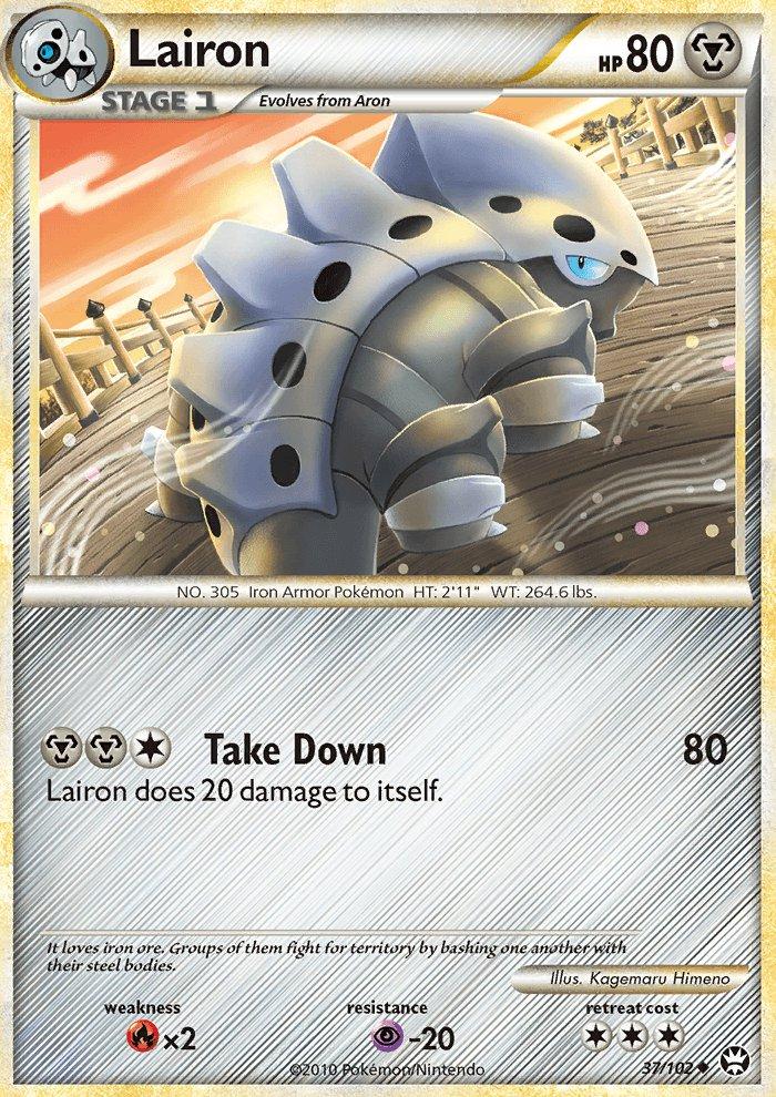 Pokemon HS Triumphant Single Card Uncommon Lairon 37/102