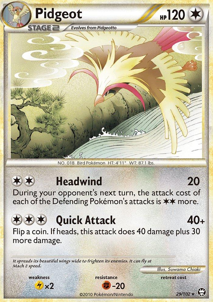 Pokemon HS Triumphant Single Card Rare Pidgeot 29/102