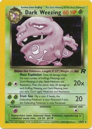 Pokemon Team Rocket Single Card Rare Holo Dark Weezing 14/82