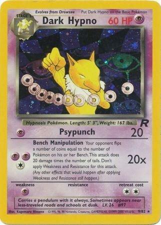 Pokemon Team Rocket Single Card Rare Holo Dark Hypno 9/82