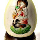 Anri Ferrandiz Annual Egg Child with Animals Italy 1979 Hand Carved Painted
