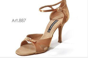 Peach Bronze satin Shoes