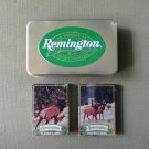 Remington Playing Card Set Limited Edition Two Sealed Decks in a Metal Box