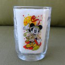 "Disney 2000 Celebration McDonald""s 14 ounce Glass with Safari Dressed Mickey Mouse"