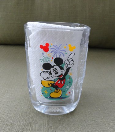 McDonalds Disney 2000 Celebraation 14 ounce Glass with Dancing Mickey Mouse