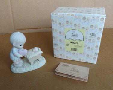 """Precious Moments Retired Figure """"I'll Give Him My Heart"""" No. 150088 with Ship Mark"""