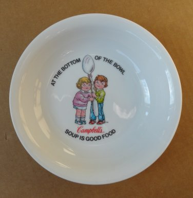 """Campbell's Soup 16 Ounce Ceramic Soup Bowl """"Campbell's Soup is Good Food"""""""
