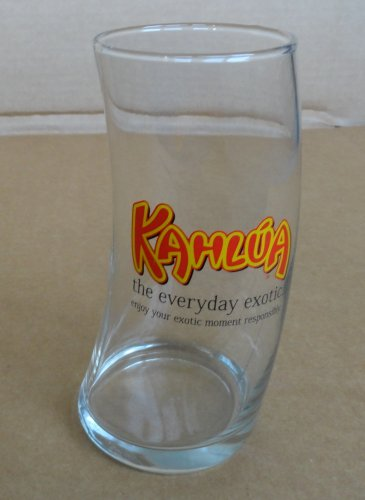 """Kahlua One Pint Curved Mudslide or White Russian Glass """"The Everycay Exotic"""""""