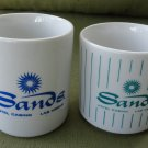 Pair of Vintage Sands Hotel & Casino Las Vegas 9 Ounce Coffee Cups