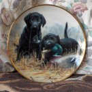 FRANKLIN MINT Beginners Luck Puppy Dog Plate 1991