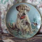 FRANKLIN MINT Eye To Eye Puppy Dog Plate 1991