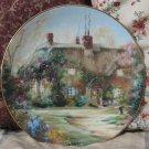 HAMILTON Larkspur Cottage House Decor Plate 1991