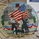 KNOWLES 4th Of July Day March Decor Plate 1979