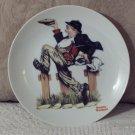 NORMAN ROCKWELL Bum Stealing a Pie Decor Plate