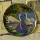 WJ GEORGE The Swan Wildlife Bird Decor Plate 1988