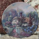 WJ GEORGE Wisteria Summer Cottage Plate 1992