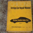 CHILTON Auto Repair Manual Foreign Cars 1972 Mechanics