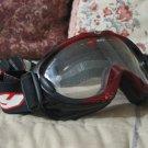 SPY ALLOY Motorcycle Motocross Goggles Red Black Used