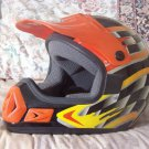 THH Motocross Motorcycle Helmet Black Base Sz Lg Youth