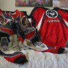 ARC MX220 Motocross Pants and Jersey Sz 28 Red Black