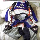 THOR Motocross Pants Shirt Sz 34 Blue Orange Black Used