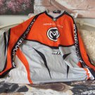 MOTOCROSS SHIRT Moose Racing Orange Grey White Sz XL