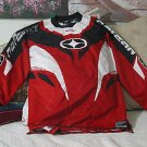 NO FEAR Red White Motocross Shirt Sz Extra Large Used