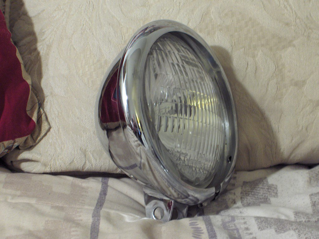 HARLEY DAVIDSON Halogen Side Lamp Plus Chrome Body Used