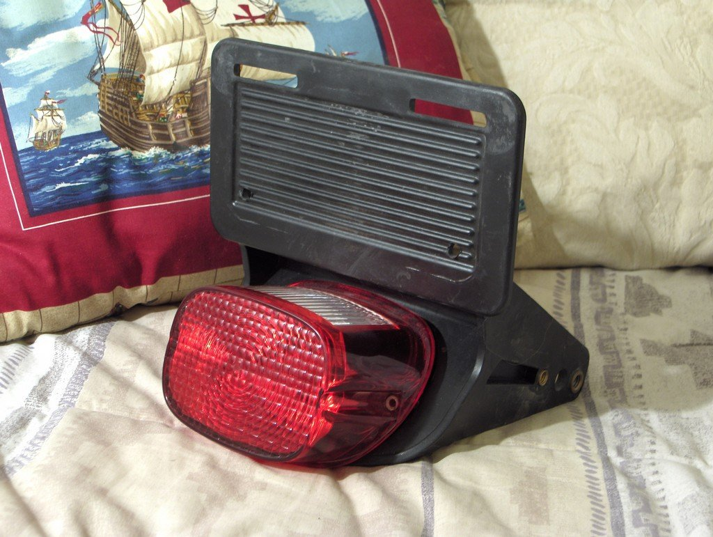 HARLEY DAVIDSON Motorcycle Rear Taillight and Mount