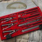 LUTZ Drafting Instrument Tool Set 11 Pieces Drawing Art