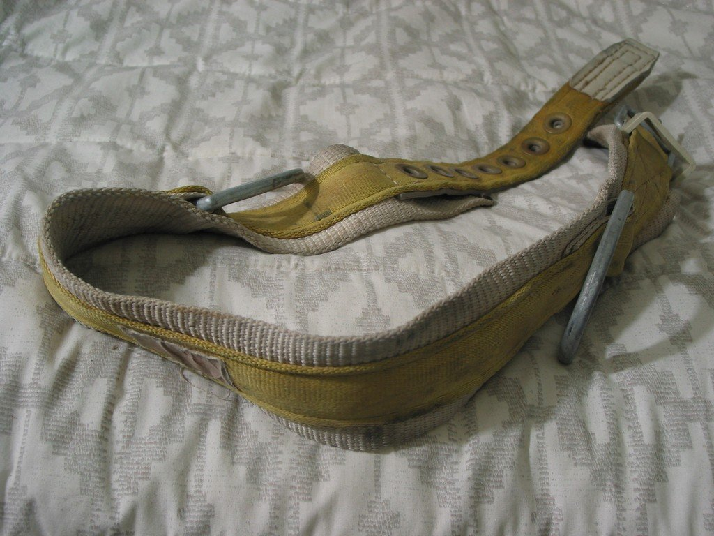MILLER Linemans Tree Harness Safety Fall Belt Strap Sz 38