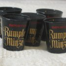 RUMPLE MINZE 5 Black Shot Glasses Used