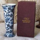 VA BENE Dark Blue Transfer Decorated Flower Vase Defective