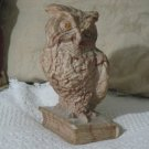 Ailiena Marble Owl On Book Statue Figure Bookend