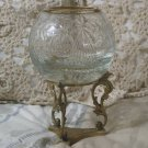 GLASS Fish Bowl Globe With Brass Stand 4 x 4