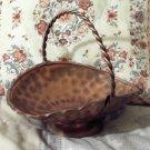 COPPER Basket Decorative Fruit Flower Floral 10 in Used