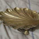 SEA SHELL Brass Display Tray or Soap Dish Tray Used