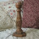 CANDLESTICK Candle Holder Wood 12 Inch Tall Used