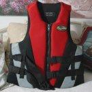 STEARNS Life Vest Jacket Preserver Red Grey Black Size Large