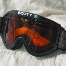SCOTT Brand Skiing V8 Snow Goggles Black Frame Used