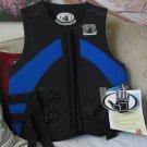 BODY GLOVE Life Preserver Jacket Vest Blue Black Size XLG
