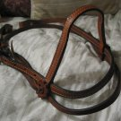 HORSE HALTER Stitched Leather Headstall Unbranded Used