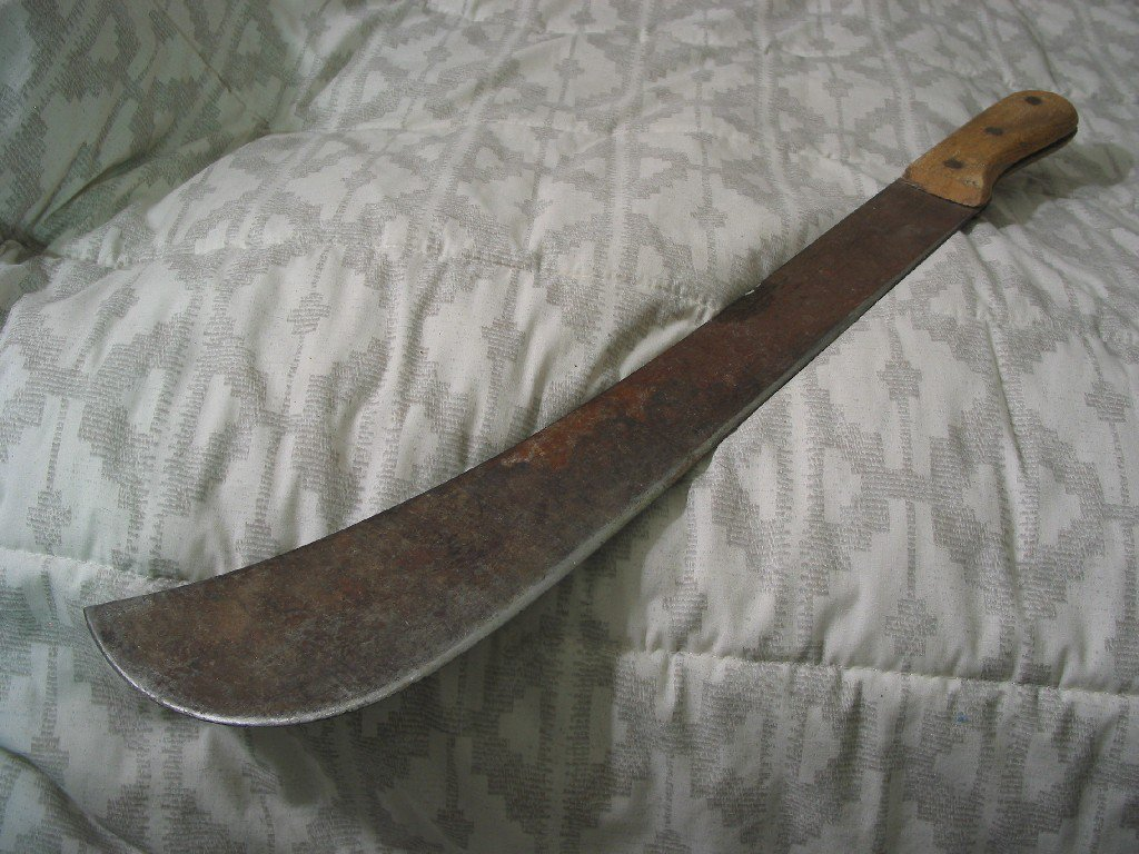 SWAMP MACHETE Vintage 18 inch Blade Plus Wood Handle Used