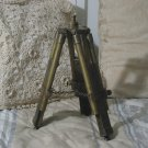 SMALL SOLID BRASS Telescope Tripod Desk Table Used