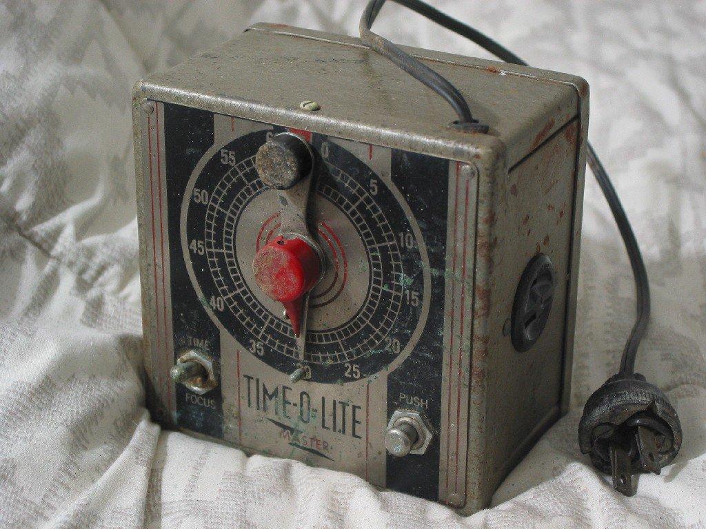 TIME O LITE Master 1940s Darkroom 60 Second Timer Works