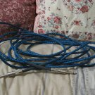 C B I Prism Blue Instrument Cable 24 ft Guitar Cord