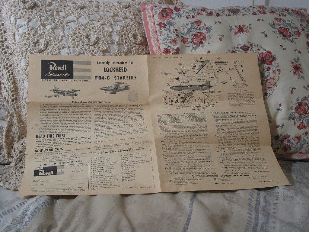 MODEL KIT INSTRUCTIONS Revell F94 C Starfire Jet 1956