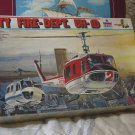 BELL 205 HUEY UH 1D City Fire Dept. Helicopter Model Kit ESCI 1/48