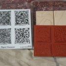 STAMPIN UP Elegant Ornaments Set Of 4 Ink Stamps Unused