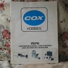 COX Hobbies 1976 RC Airplane Product Pamphlet Booklet
